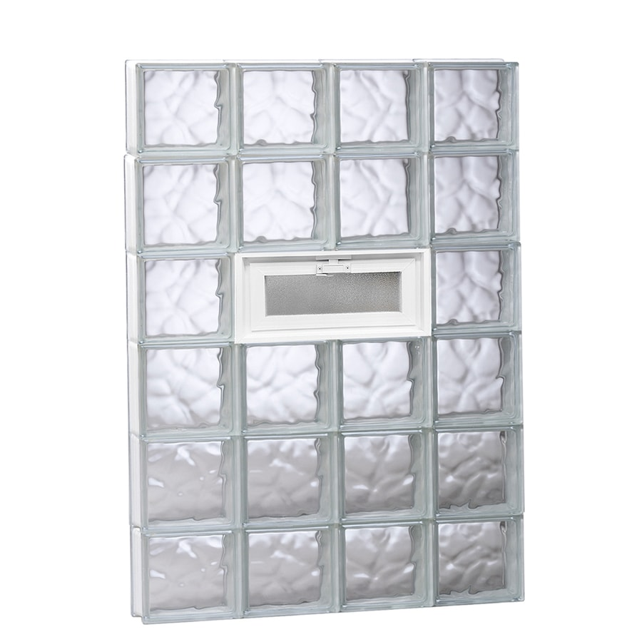 REDI2SET Wavy Glass Pattern Frameless Replacement Glass Block Window (Rough Opening: 32-in x 48-in; Actual: 31-in x 46.5-in)