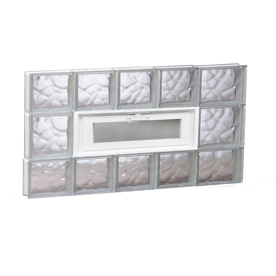 REDI2SET Wavy Pattern Frameless Replacement Glass Block Window (Rough Opening: 34-in x 20-in; Actual: 32.75-in x 19.25-in)
