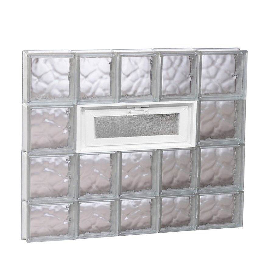 REDI2SET Wavy Pattern Frameless Replacement Glass Block Window (Rough Opening: 34-in x 30-in; Actual: 32.75-in x 29-in)