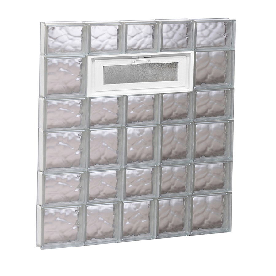REDI2SET Wavy Pattern Frameless Replacement Glass Block Window (Rough Opening: 34-in x 42-in; Actual: 32.75-in x 40.5-in)