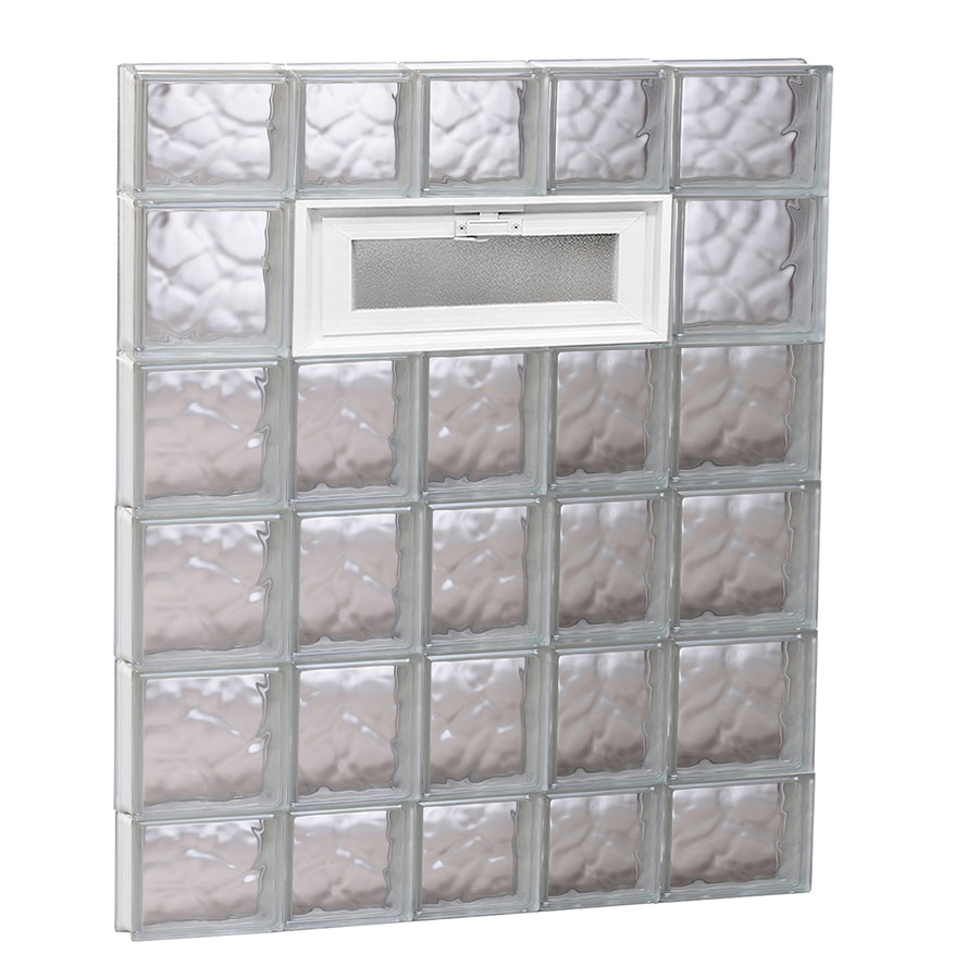 REDI2SET Wavy Pattern Frameless Replacement Glass Block Window (Rough Opening: 34-in x 44-in; Actual: 32.75-in x 42.5-in)