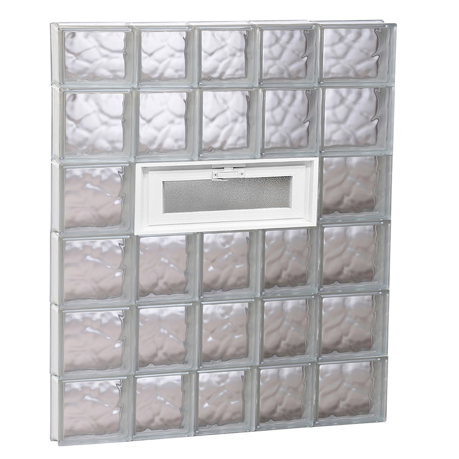 REDI2SET Wavy Pattern Frameless Replacement Glass Block Window (Rough Opening: 34-in x 46-in; Actual: 32.75-in x 44.5-in)