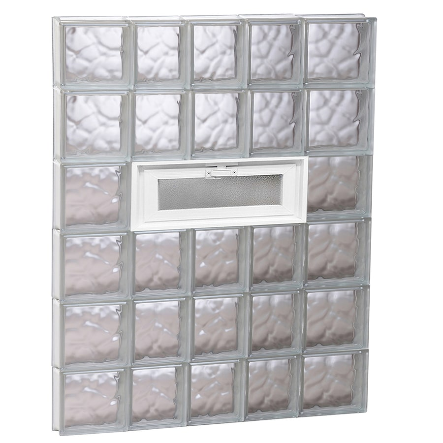 REDI2SET Wavy Pattern Frameless Replacement Glass Block Window (Rough Opening: 34-in x 48-in; Actual: 32.75-in x 46.5-in)