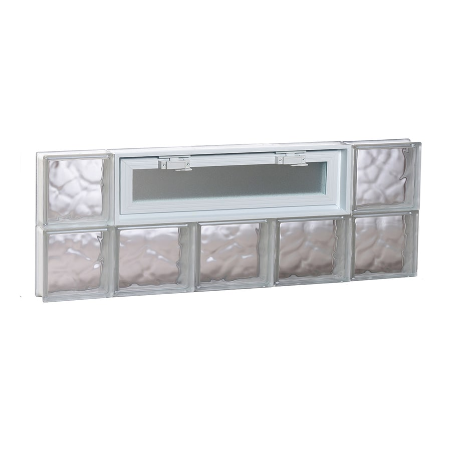 REDI2SET Wavy Pattern Frameless Replacement Glass Block Window (Rough Opening: 36-in x 12-in; Actual: 34.75-in x 11.5-in)