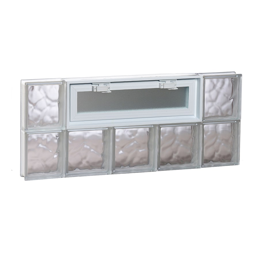 REDI2SET Wavy Pattern Frameless Replacement Glass Block Window (Rough Opening: 36-in x 16-in; Actual: 34.75-in x 15.5-in)