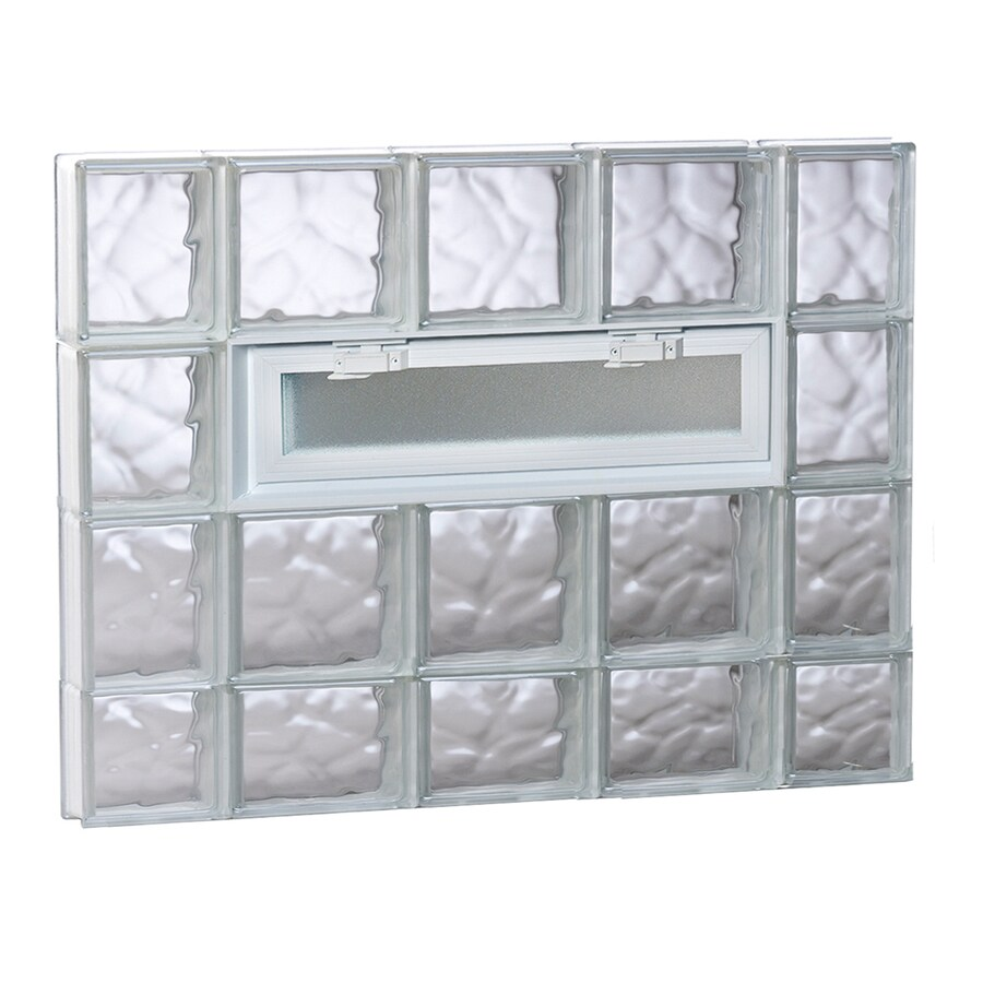REDI2SET Wavy Pattern Frameless Replacement Glass Block Window (Rough Opening: 36-in x 30-in; Actual: 34.75-in x 29-in)