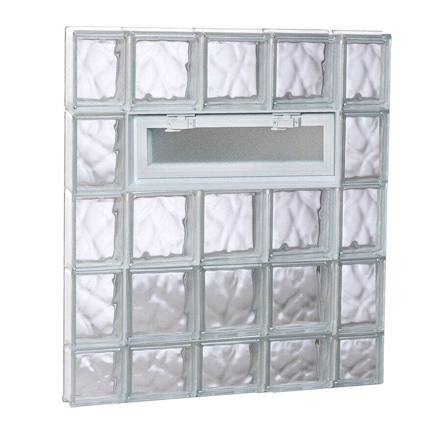 REDI2SET Wavy Pattern Frameless Replacement Glass Block Window (Rough Opening: 36-in x 38-in; Actual: 34.75-in x 36.75-in)