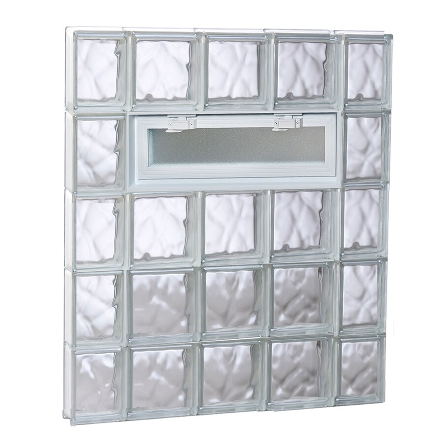 REDI2SET Wavy Pattern Frameless Replacement Glass Block Window (Rough Opening: 36-in x 40-in; Actual: 34.75-in x 38.75-in)