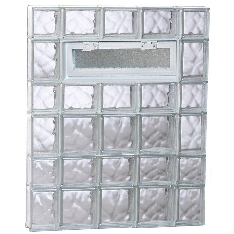 REDI2SET Wavy Pattern Frameless Replacement Glass Block Window (Rough Opening: 36-in x 42-in; Actual: 34.75-in x 40.5-in)