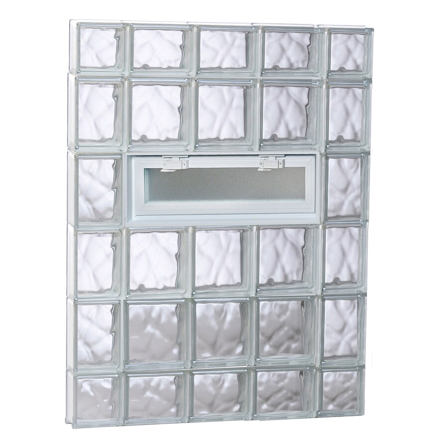 REDI2SET Wavy Pattern Frameless Replacement Glass Block Window (Rough Opening: 36-in x 44-in; Actual: 34.75-in x 42.5-in)