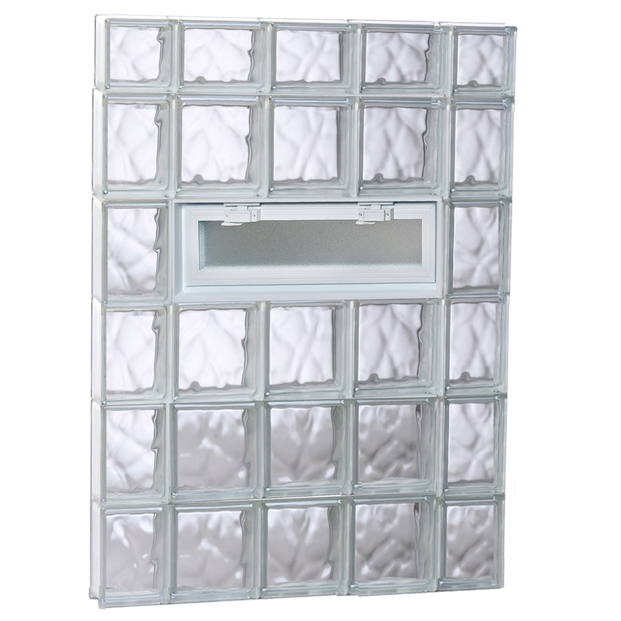 REDI2SET Wavy Pattern Frameless Replacement Glass Block Window (Rough Opening: 36-in x 46-in; Actual: 34.75-in x 44.5-in)