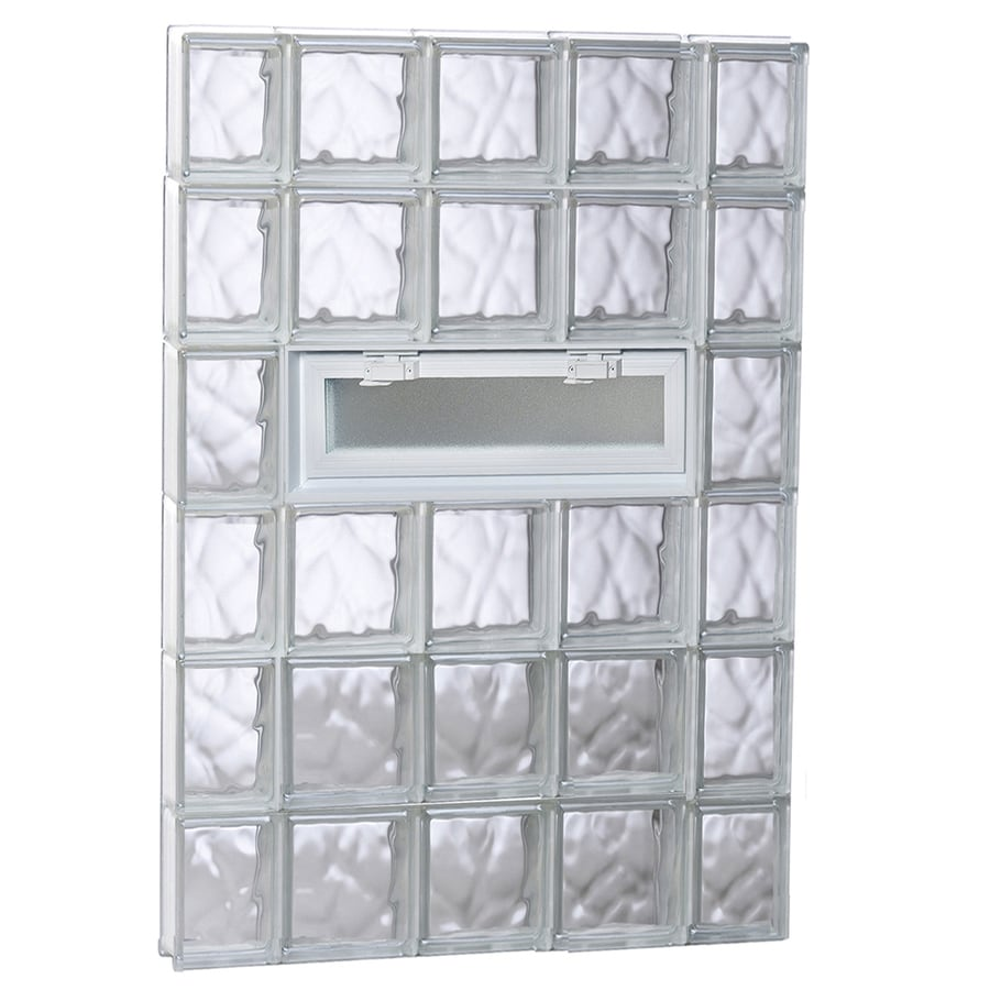 REDI2SET Wavy Pattern Frameless Replacement Glass Block Window (Rough Opening: 36-in x 48-in; Actual: 34.75-in x 46.5-in)
