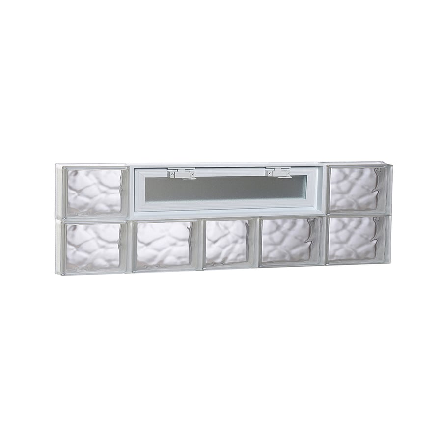 REDI2SET Wavy Pattern Frameless Replacement Glass Block Window (Rough Opening: 38-in x 12-in; Actual: 36.75-in x 11.5-in)