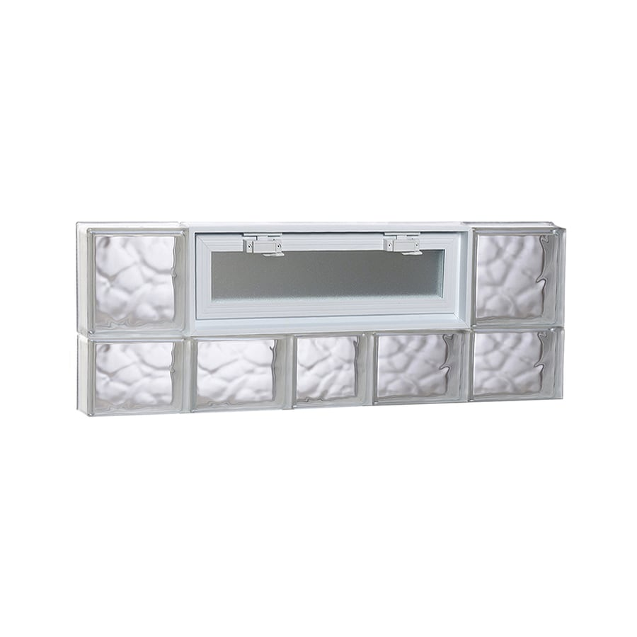 REDI2SET Wavy Pattern Frameless Replacement Glass Block Window (Rough Opening: 38-in x 14-in; Actual: 36.75-in x 13.5-in)