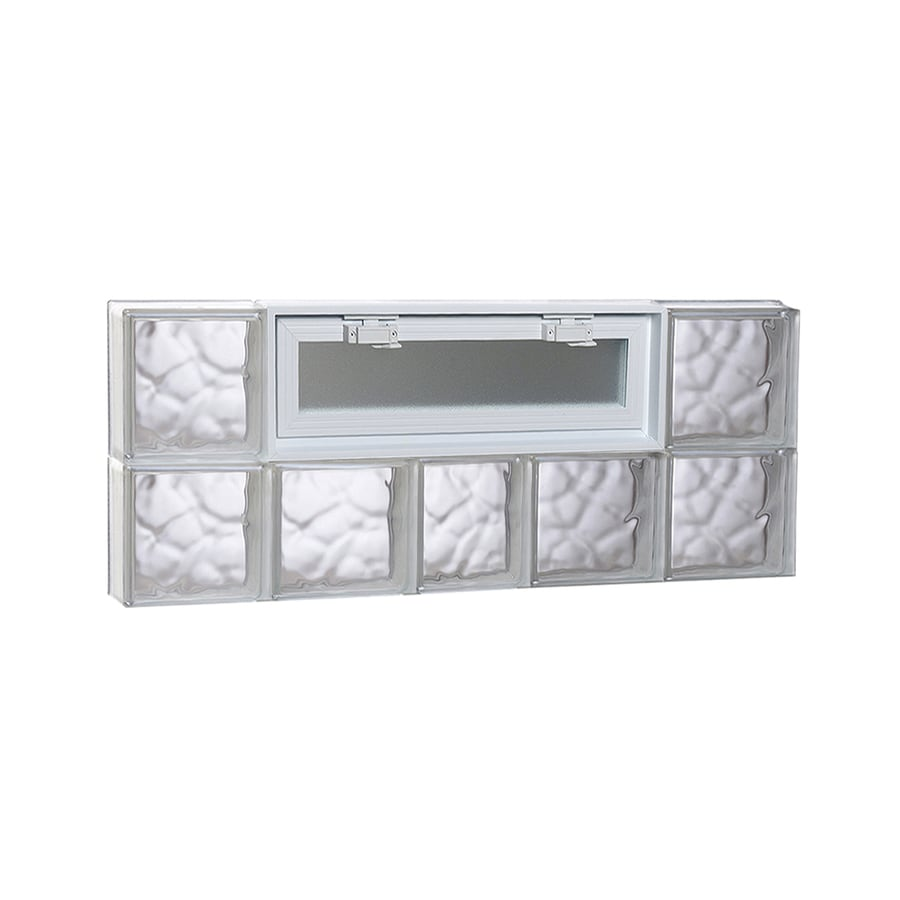 REDI2SET Wavy Pattern Frameless Replacement Glass Block Window (Rough Opening: 38-in x 16-in; Actual: 36.75-in x 15.5-in)
