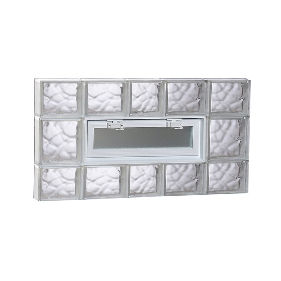 REDI2SET Wavy Pattern Frameless Replacement Glass Block Window (Rough Opening: 38-in x 20-in; Actual: 36.75-in x 19.25-in)