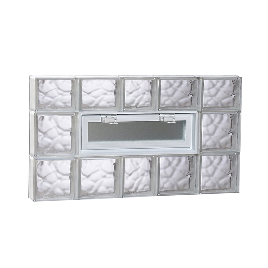 REDI2SET Wavy Glass Pattern Frameless Replacement Glass Block Window (Rough Opening: 38-in x 22-in; Actual: 36.7500-in x 21.2500-in)