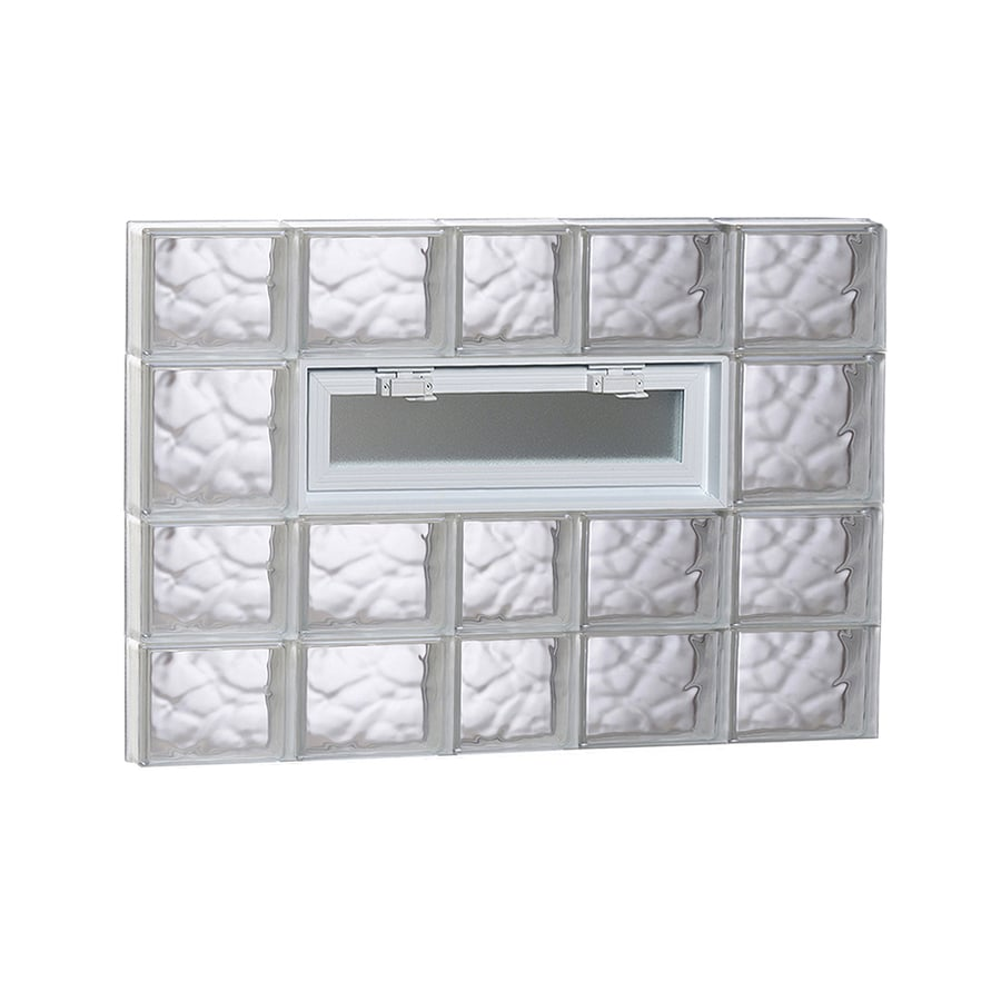 REDI2SET Wavy Pattern Frameless Replacement Glass Block Window (Rough Opening: 38-in x 26-in; Actual: 36.75-in x 25-in)