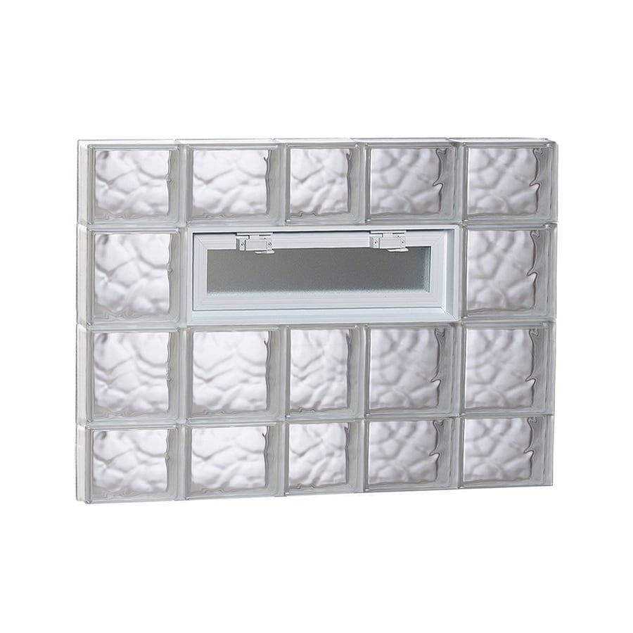 REDI2SET Wavy Pattern Frameless Replacement Glass Block Window (Rough Opening: 38-in x 28-in; Actual: 36.75-in x 27-in)