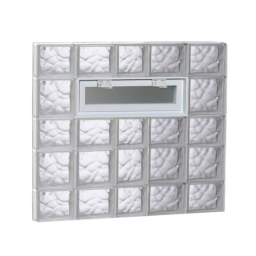 REDI2SET Wavy Pattern Frameless Replacement Glass Block Window (Rough Opening: 38-in x 34-in; Actual: 36.75-in x 32.75-in)