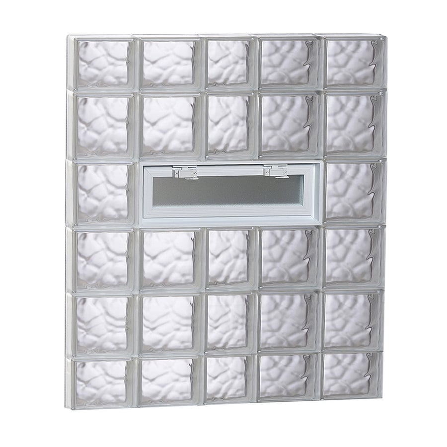 REDI2SET Wavy Pattern Frameless Replacement Glass Block Window (Rough Opening: 38-in x 44-in; Actual: 36.75-in x 42.5-in)