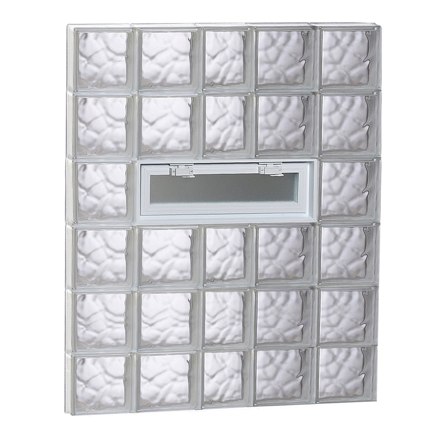 Redi2set Wavy Gl Pattern Frameless Replacement Clear Block Window Rough Opening 38