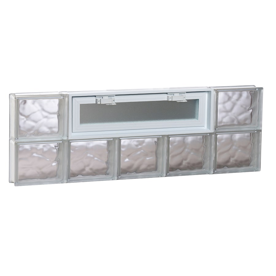 REDI2SET Wavy Pattern Frameless Replacement Glass Block Window (Rough Opening: 40-in x 12-in; Actual: 38.75-in x 11.5-in)
