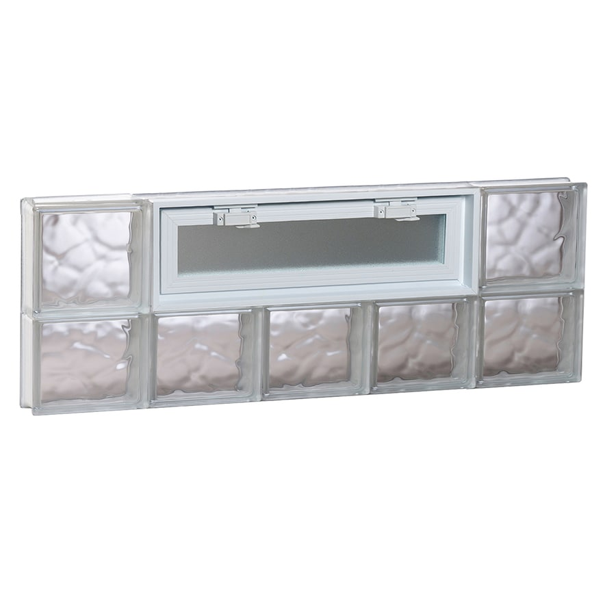 REDI2SET Wavy Pattern Frameless Replacement Glass Block Window (Rough Opening: 40-in x 14-in; Actual: 38.75-in x 13.5-in)