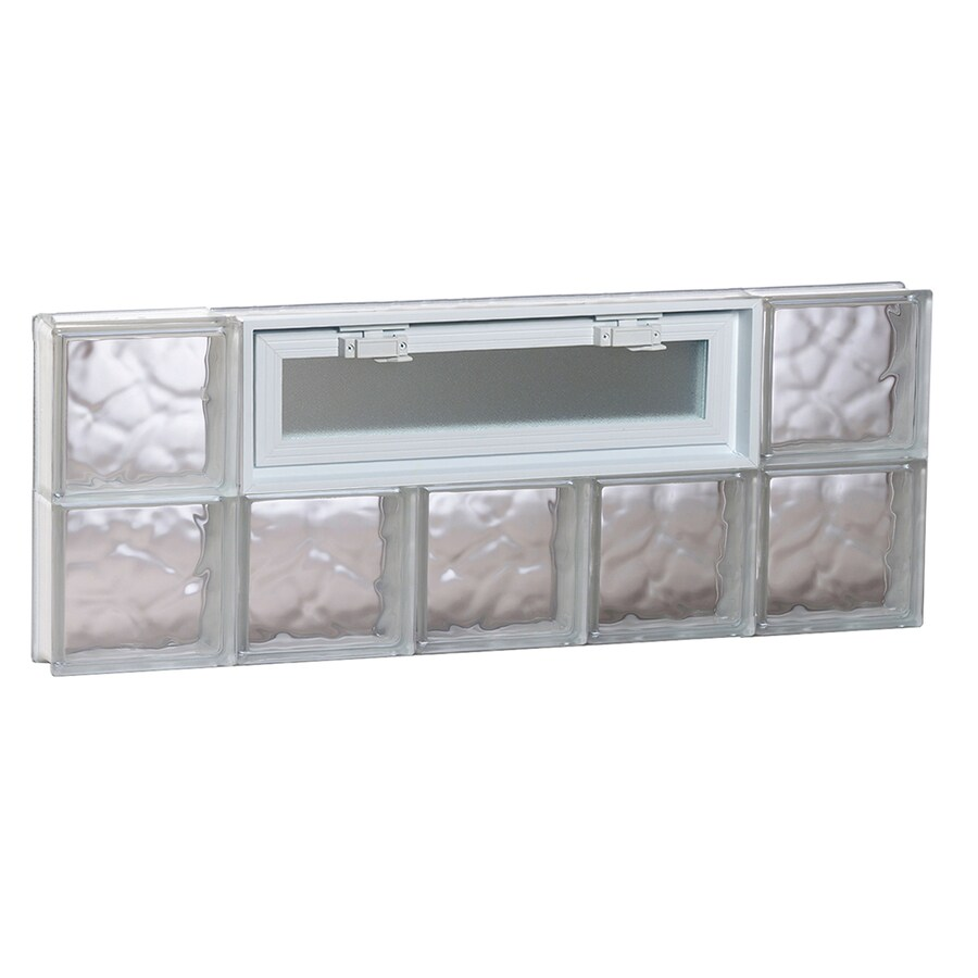 REDI2SET Wavy Pattern Frameless Replacement Glass Block Window (Rough Opening: 40-in x 16-in; Actual: 38.75-in x 15.5-in)