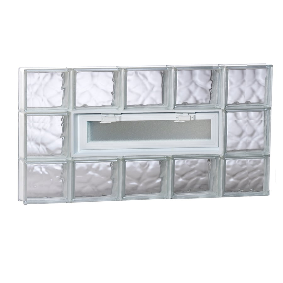 REDI2SET Wavy Pattern Frameless Replacement Glass Block Window (Rough Opening: 40-in x 20-in; Actual: 38.75-in x 19.25-in)