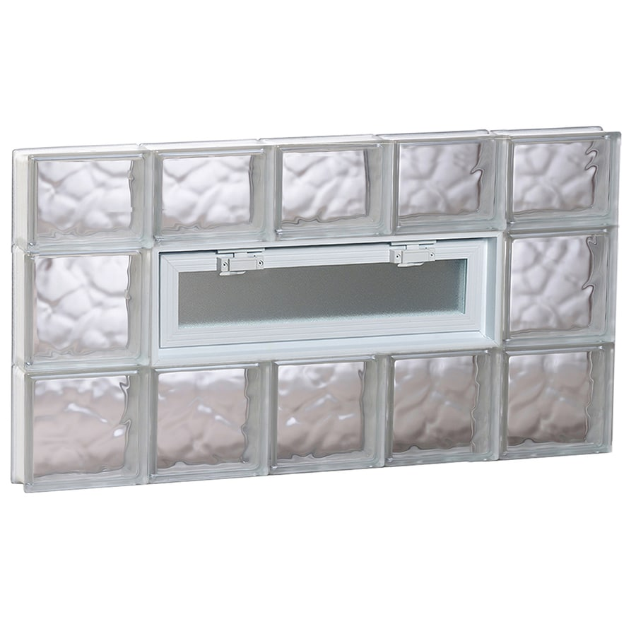 REDI2SET Wavy Pattern Frameless Replacement Glass Block Window (Rough Opening: 40-in x 22-in; Actual: 38.75-in x 21.25-in)