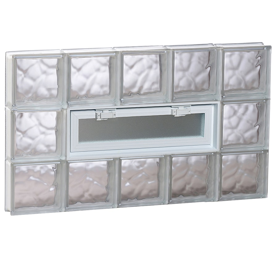 REDI2SET Wavy Pattern Frameless Replacement Glass Block Window (Rough Opening: 40-in x 24-in; Actual: 38.75-in x 23.25-in)
