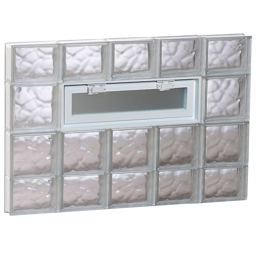 REDI2SET Wavy Pattern Frameless Replacement Glass Block Window (Rough Opening: 40-in x 28-in; Actual: 38.75-in x 27-in)