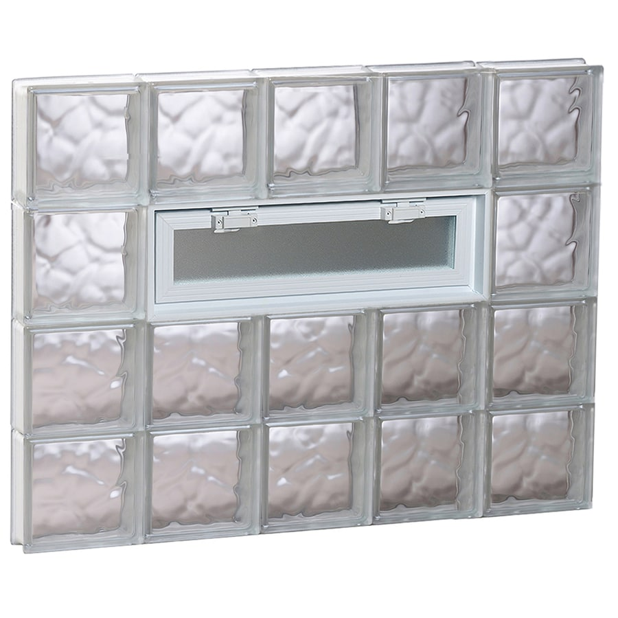 REDI2SET Wavy Pattern Frameless Replacement Glass Block Window (Rough Opening: 40-in x 32-in; Actual: 38.75-in x 31-in)