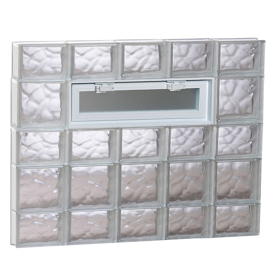 REDI2SET Wavy Pattern Frameless Replacement Glass Block Window (Rough Opening: 40-in x 34-in; Actual: 38.75-in x 32.75-in)