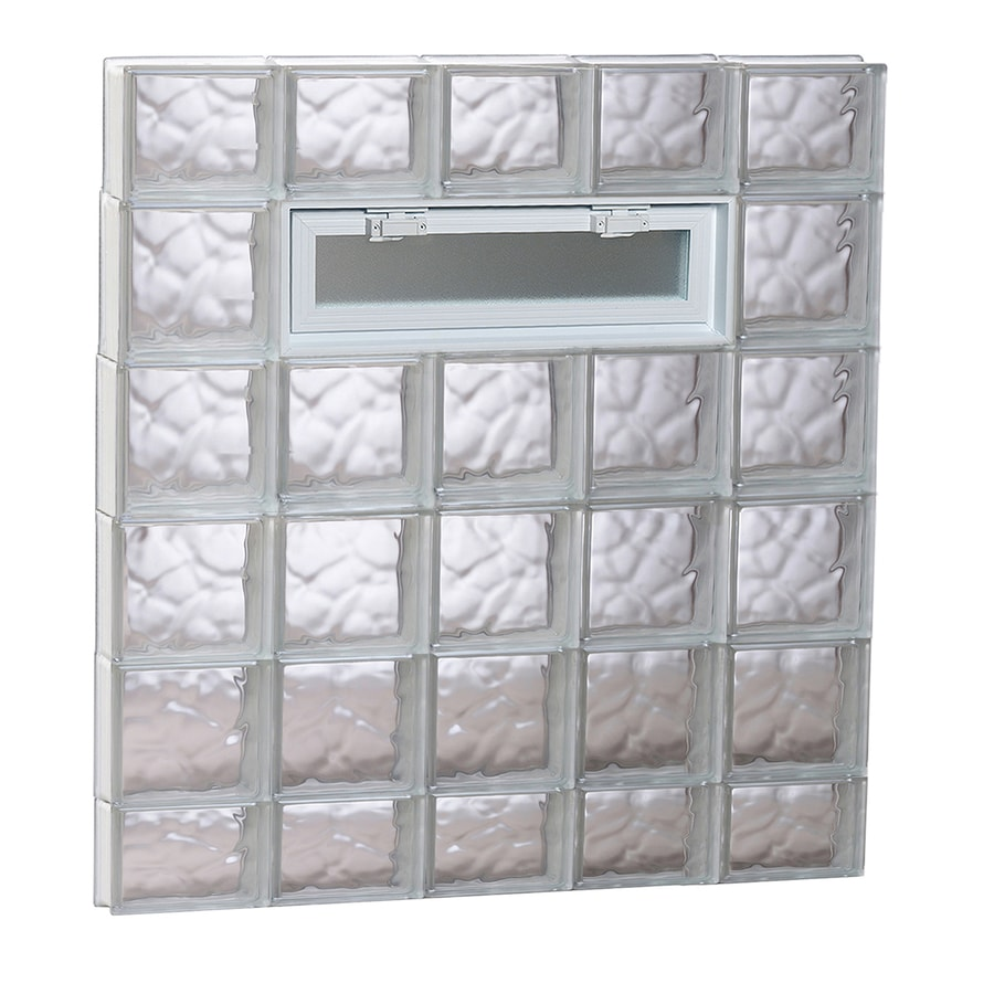 REDI2SET Wavy Pattern Frameless Replacement Glass Block Window (Rough Opening: 40-in x 38-in; Actual: 38.75-in x 36.75-in)