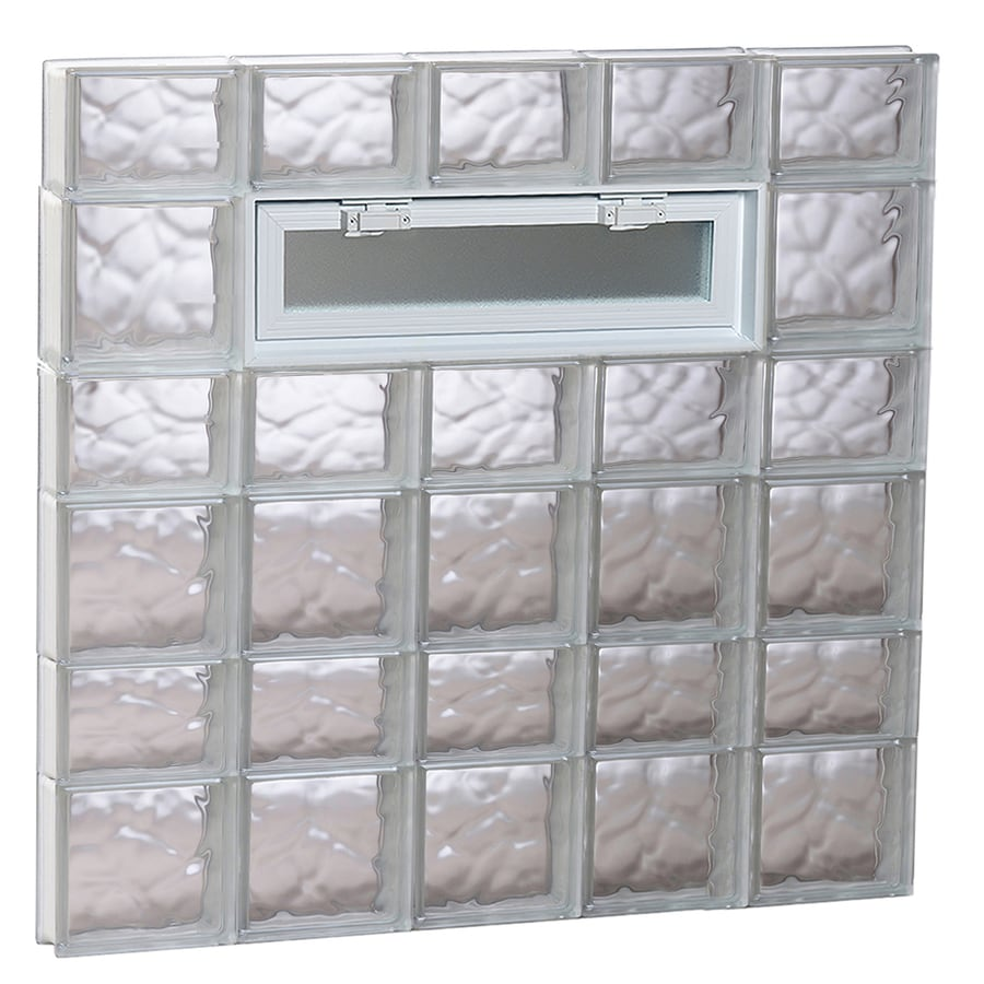 REDI2SET Wavy Pattern Frameless Replacement Glass Block Window (Rough Opening: 40-in x 42-in; Actual: 38.75-in x 40.5-in)