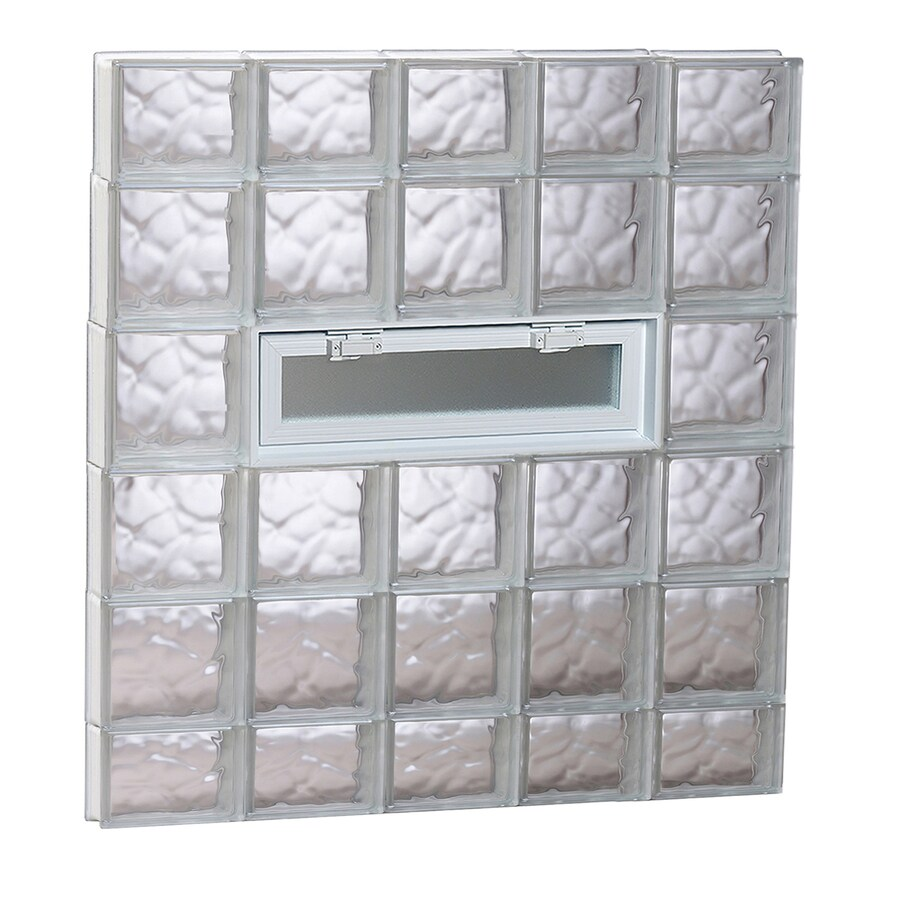 REDI2SET Wavy Pattern Frameless Replacement Glass Block Window (Rough Opening: 40-in x 44-in; Actual: 38.75-in x 42.5-in)