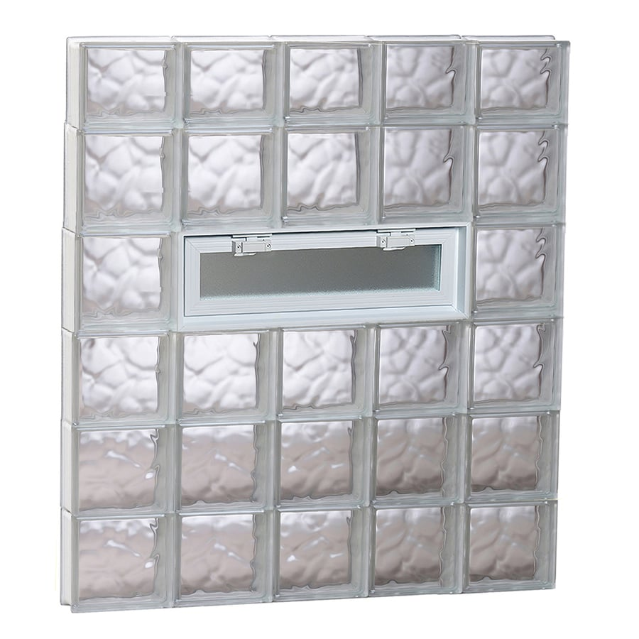 REDI2SET Wavy Pattern Frameless Replacement Glass Block Window (Rough Opening: 40-in x 46-in; Actual: 38.75-in x 44.5-in)