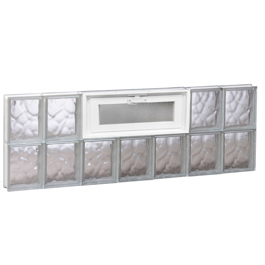 REDI2SET Wavy Pattern Frameless Replacement Glass Block Window (Rough Opening: 42-in x 16-in; Actual: 40.25-in x 15.5-in)