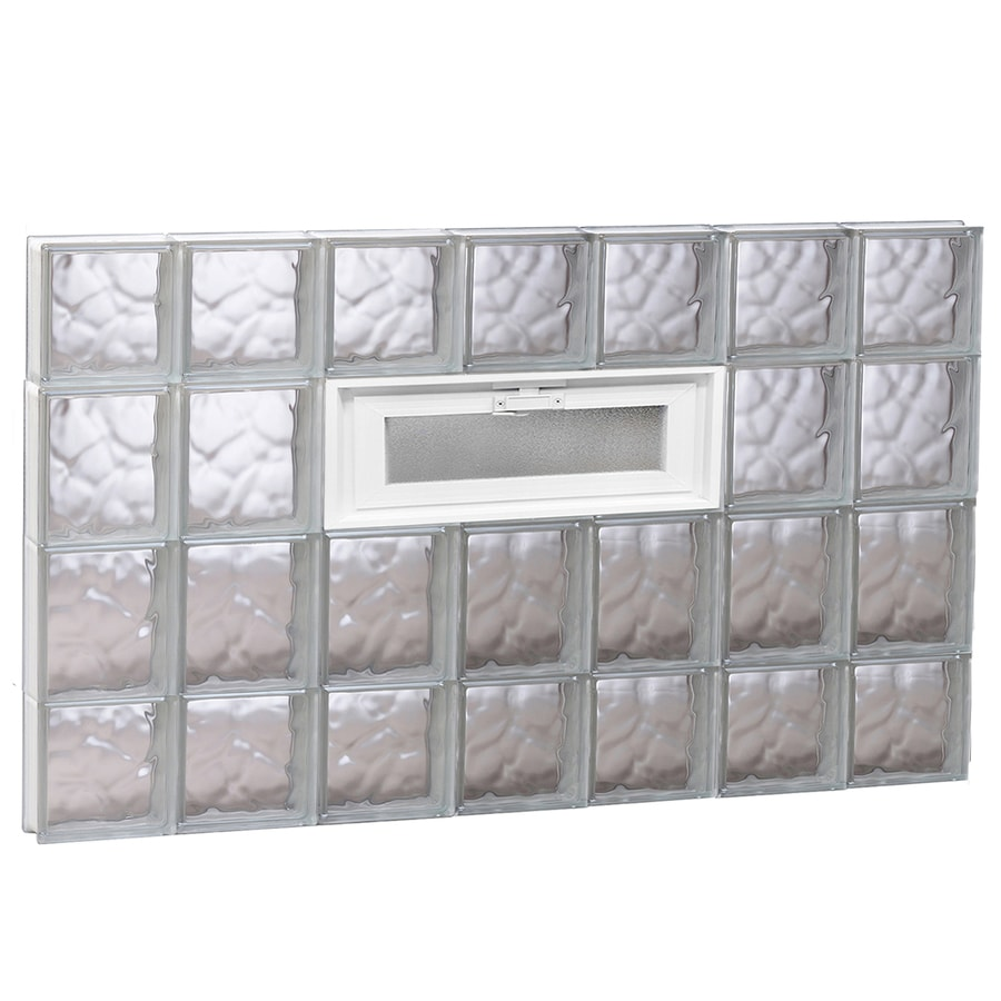 REDI2SET Wavy Pattern Frameless Replacement Glass Block Window (Rough Opening: 42-in x 28-in; Actual: 40.25-in x 27-in)