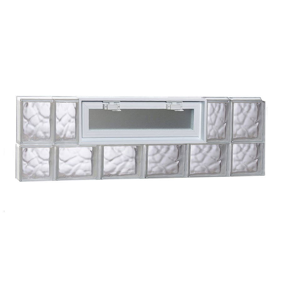 REDI2SET Wavy Pattern Frameless Replacement Glass Block Window (Rough Opening: 44-in x 14-in; Actual: 42.5-in x 13.5-in)