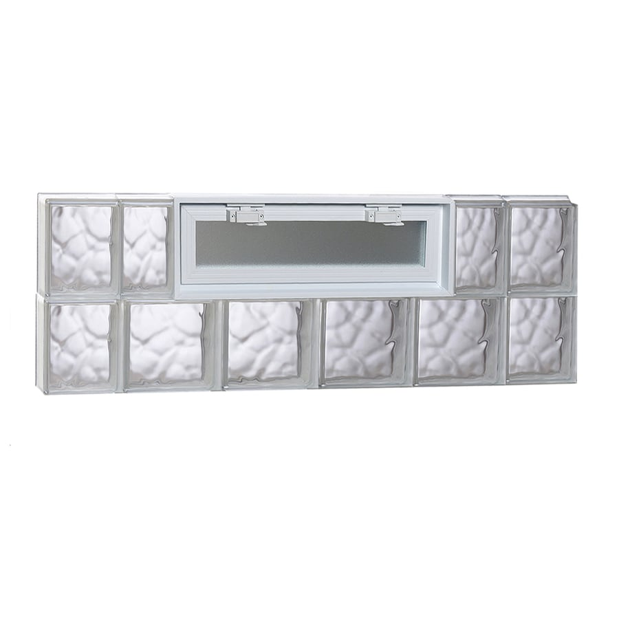 REDI2SET Wavy Pattern Frameless Replacement Glass Block Window (Rough Opening: 44-in x 16-in; Actual: 42.5-in x 15.5-in)