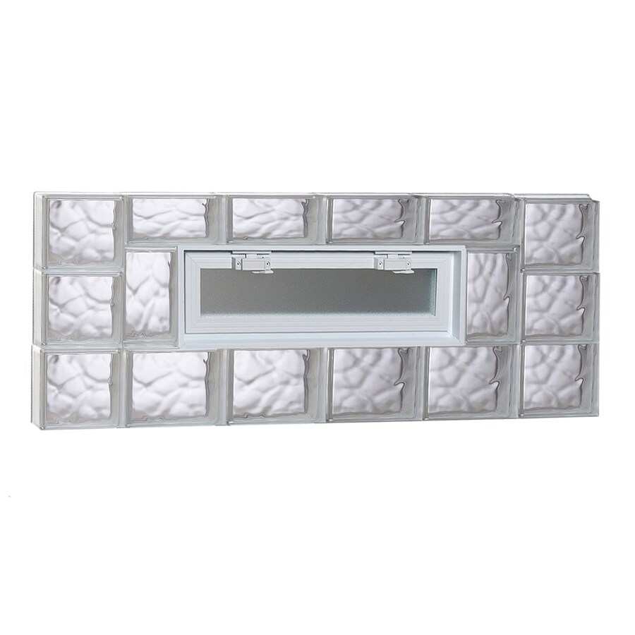 REDI2SET Wavy Pattern Frameless Replacement Glass Block Window (Rough Opening: 44-in x 18-in; Actual: 42.5-in x 17.25-in)