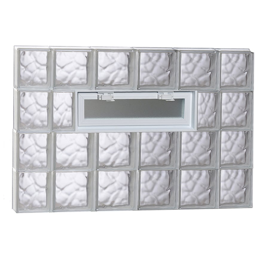 REDI2SET Wavy Glass Pattern Frameless Replacement Glass Block Window (Rough Opening: 44-in x 32-in; Actual: 42.5000-in x 31-in)