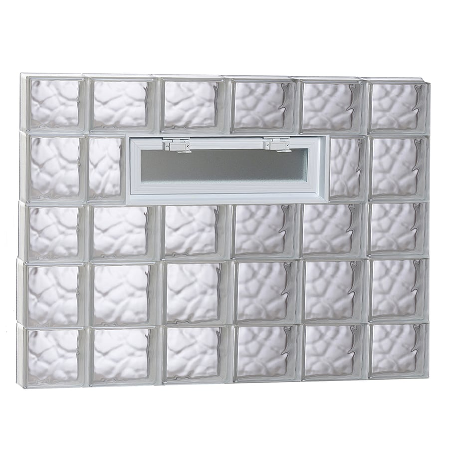 REDI2SET Wavy Pattern Frameless Replacement Glass Block Window (Rough Opening: 44-in x 34-in; Actual: 42.5-in x 32.75-in)
