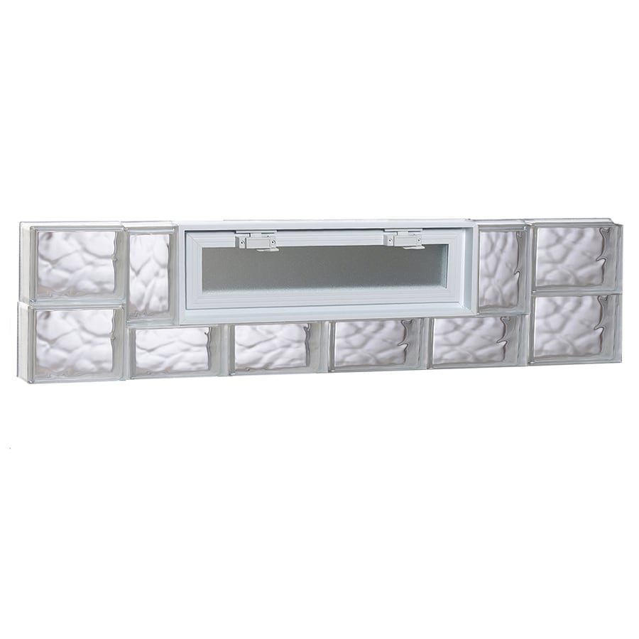 REDI2SET Wavy Glass Pattern Frameless Replacement Glass Block Window (Rough Opening: 48-in x 12-in; Actual: 46.5-in x 11.5-in)