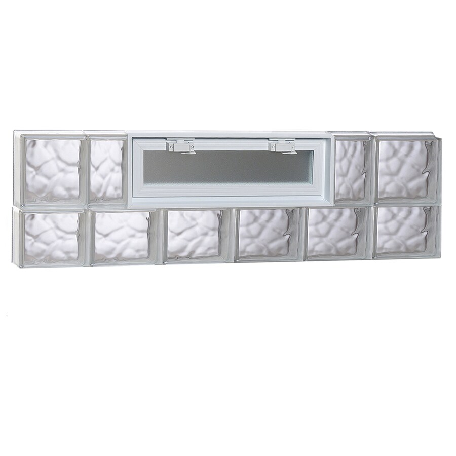 REDI2SET Wavy Pattern Frameless Replacement Glass Block Window (Rough Opening: 48-in x 14-in; Actual: 46.5-in x 13.5-in)