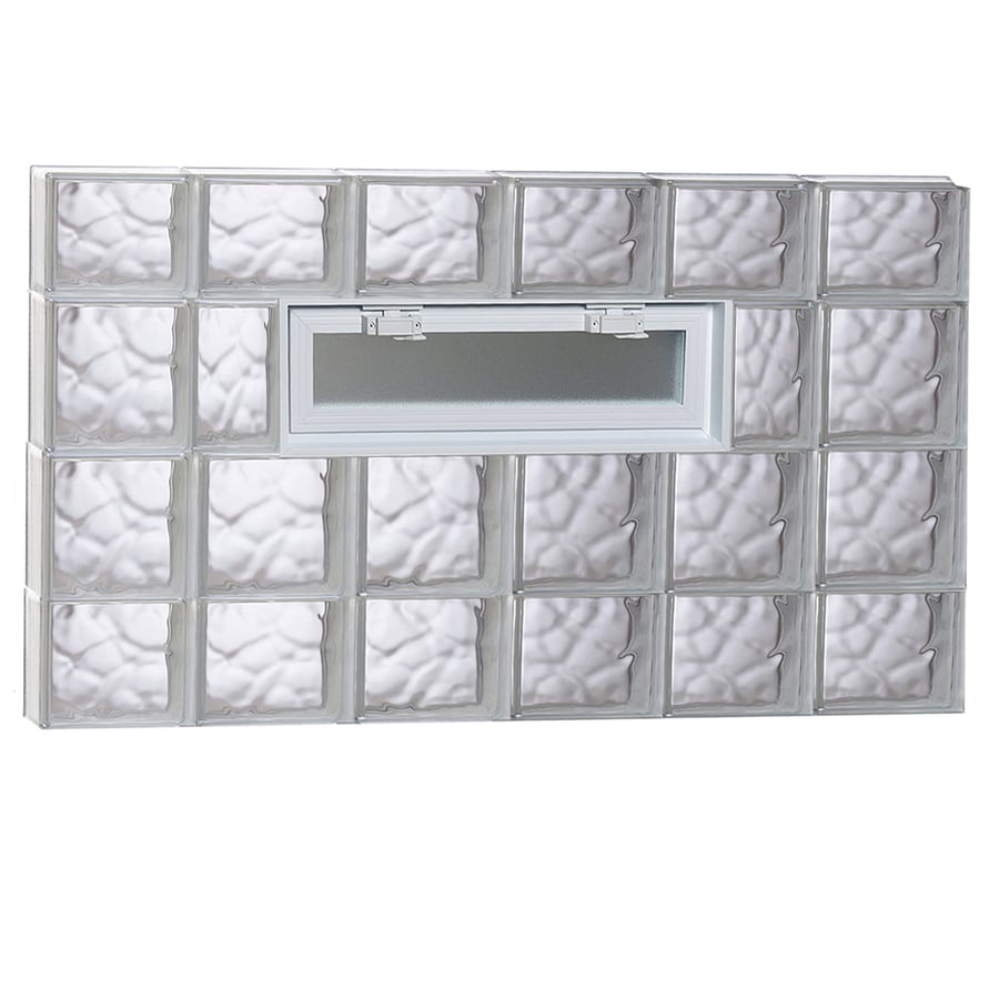 REDI2SET Wavy Pattern Frameless Replacement Glass Block Window (Rough Opening: 48-in x 28-in; Actual: 46.5-in x 27-in)