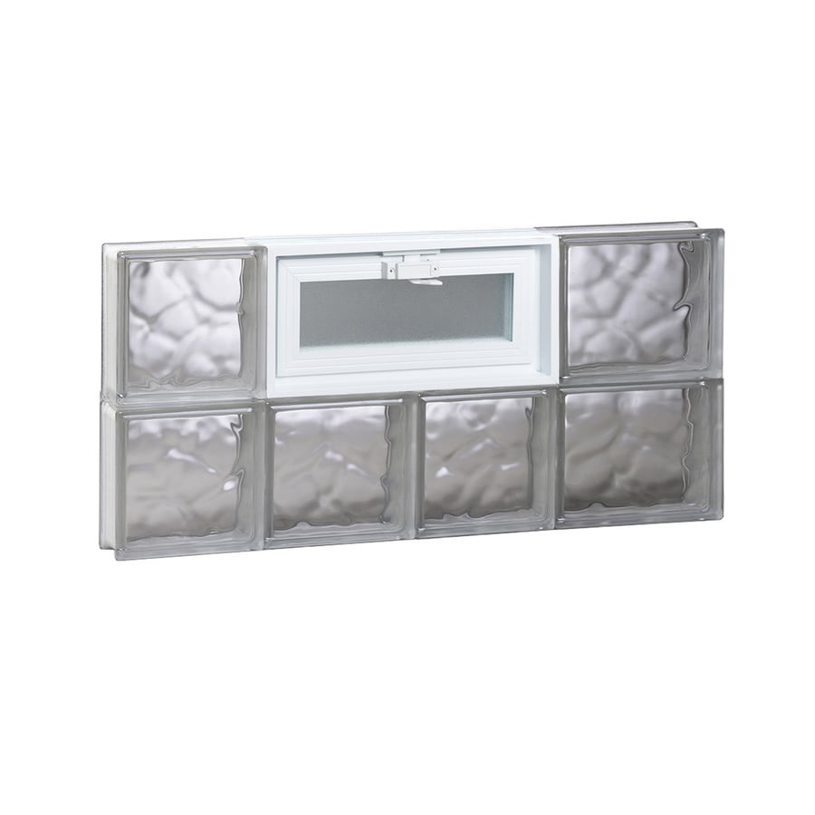 REDI2SET Wavy Pattern Frameless Replacement Glass Block Window (Rough Opening: 26-in x 12-in; Actual: 25-in x 11.5-in)